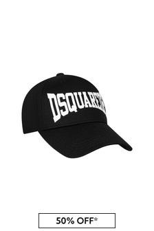 Dsquared2 Kids Boys Black Cotton Cap