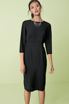 Tie Back Crepe Dress