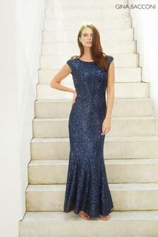 Gina Bacconi Basanti Stretch Sequin Maxi Dress