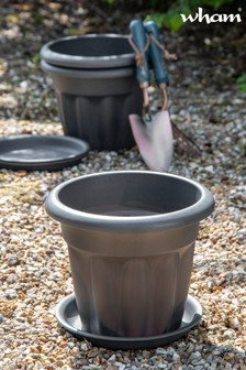 Set of 3 Vista 25cm Round Tray And Garden Planters by Wham