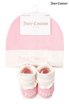 Juicy Couture Hat And Bootie Set