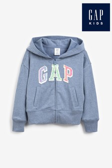 Gap Rainbow Logo Zip Through Hoodie