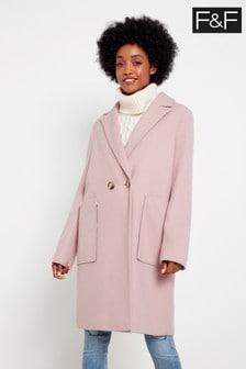 F&F Pink Crombie Coat