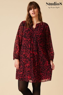 Studio 8 Red Willow Printed Dress