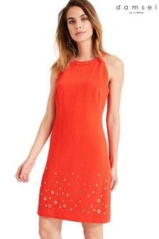 Damsel In A Dress Orange Alixa Eyelet Dress