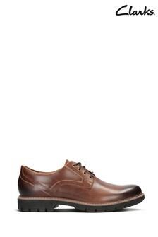 Clarks Dark Tan Lea Batcombe Hall Shoes