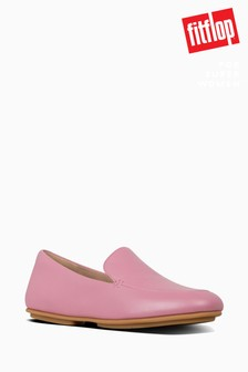 FitFlop™ Pink Lena Pearlised Loafer