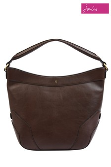 Joules Lowesby Leather Hobo Bag