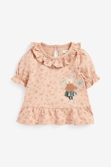 Floral Bunny Blouse (3mths-7yrs)