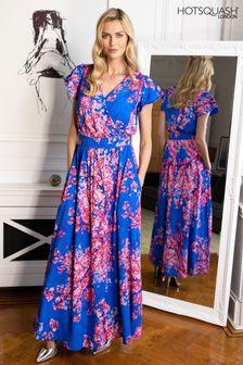 HotSquash Chiffon Wrap Top Maxi Dress