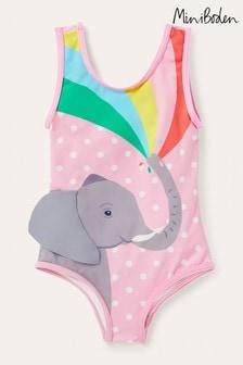 Boden Pink Fun Appliqué Swimsuit