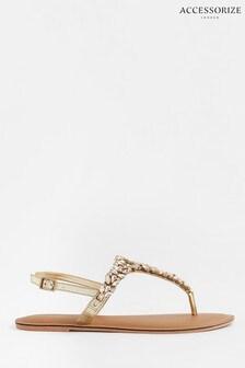 Accessorize White Bermuda Crystal Sandals
