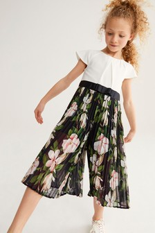 Baker by Ted Baker Girls Floral Culotte Jumpsuit
