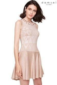 Damsel In A Dress Nude Ricarda Shimmer Knit Dress