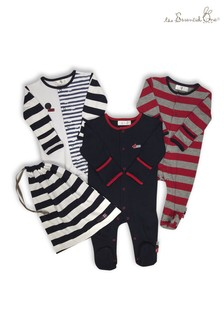 The Essential One Baby Boys Bold Stripe Sleepsuits Three Pack