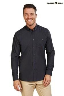 Raging Bull Black Long Sleeve Ottoman Weave Shirt