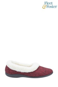 Fleet & Foster Red Hilda Slippers
