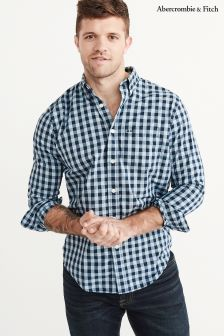 Abercrombie & Fitch Navy Gingham Shirt