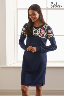Boden Blue Sweatshirt Dress