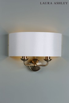 Laura Ashley Sorrento 2 Light Wall Light with Ivory Shade