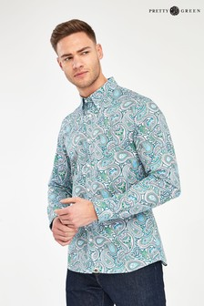 Pretty Green Marshall Paisley Pattern Shirt