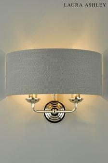 Laura Ashley Sorrento 2 Light Wall Light with Charcoal Shade