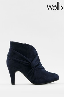 Wallis Winding Navy Soft Knot Twist Boots