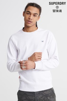 Superdry White Collective Crew Jumper