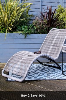Zanzbiar Grey Sun Lounger by Charles Bentley