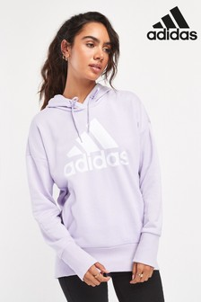 adidas Lilac Badge Of Sport Longline Hoody