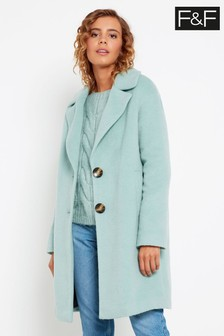 F&F Drawn Sage Coat