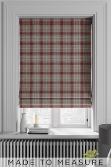 Cranford Check Red Made To Measure Roman Blind