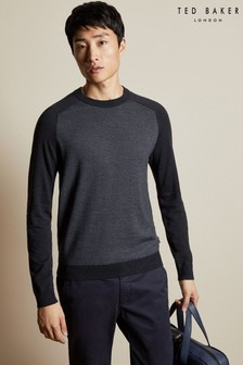 Ted Baker Grey Stripe Knit Jumper