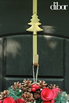 Gold Christmas Tree Wreath Door Hanger by Dibor
