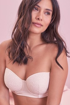Phoebe Signature Silk And Lace Lightly Padded Multiway Bra