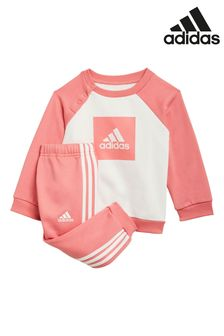 adidas Infant Pink Crew And Joggers Set