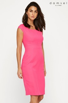 Damsel In A Dress Pink Noura Fitted Dress