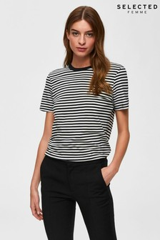 Selected Femme Stripe Perfect Box T-Shirt