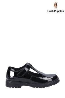 Hush Puppies Black Gracie Junior School Shoes