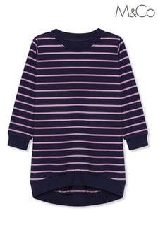 M&Co Kids Blue Stripe Sweater Dress