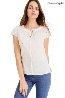 Phase Eight White Helen-Lucy Blouse