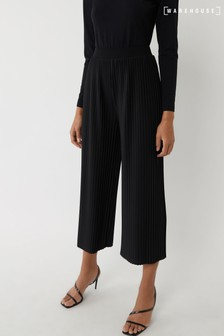 Warehouse Black Pleated Culottes