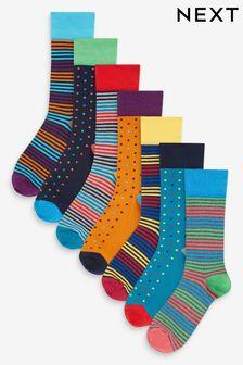 Pattern Socks Eight Pack