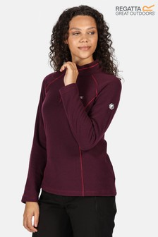 Regatta Purple Womens Half Zip Kenger Fleece