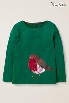 Boden Green Sparkly Animals T-Shirt