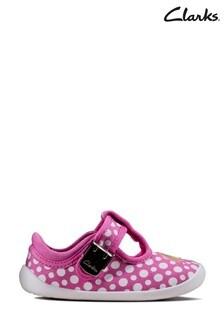 Clarks Hot Pink Roamer Sun T Canvas Shoes