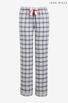 Jack Wills Navy Cricklewood Flannel Check Lounge Pants
