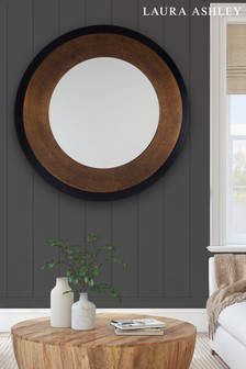 Laura Ashley Cara Large Mottled Round Mirror