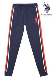 U.S. Polo Assn. Blue Tape Stripe Joggers