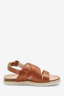Leather Rope Wrap Sandals (Older)